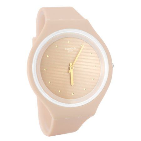 Swatch SVUT100 Skinskin Pink Silicone Rubber Band Skin Watch New