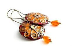 Enamel earrings - Sun by Boroka Halasz http://www.h-art.com.au/#!earrings/cu9g