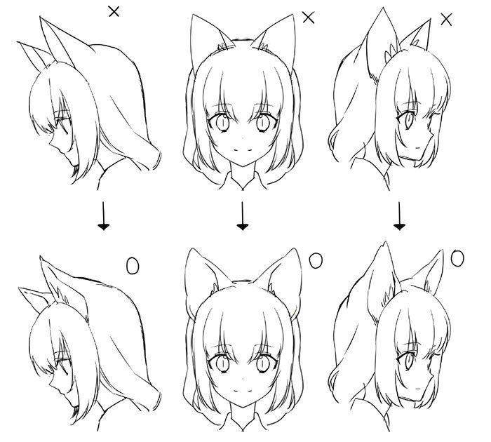けものキャラクターが生き生きと! ケモノ耳を上手に描く4つのコツ|イラストの描き方  耳に立体感をもたせる    4 Techniques to Draw Kemono Ears | Illustration Tutorial  Think about volume