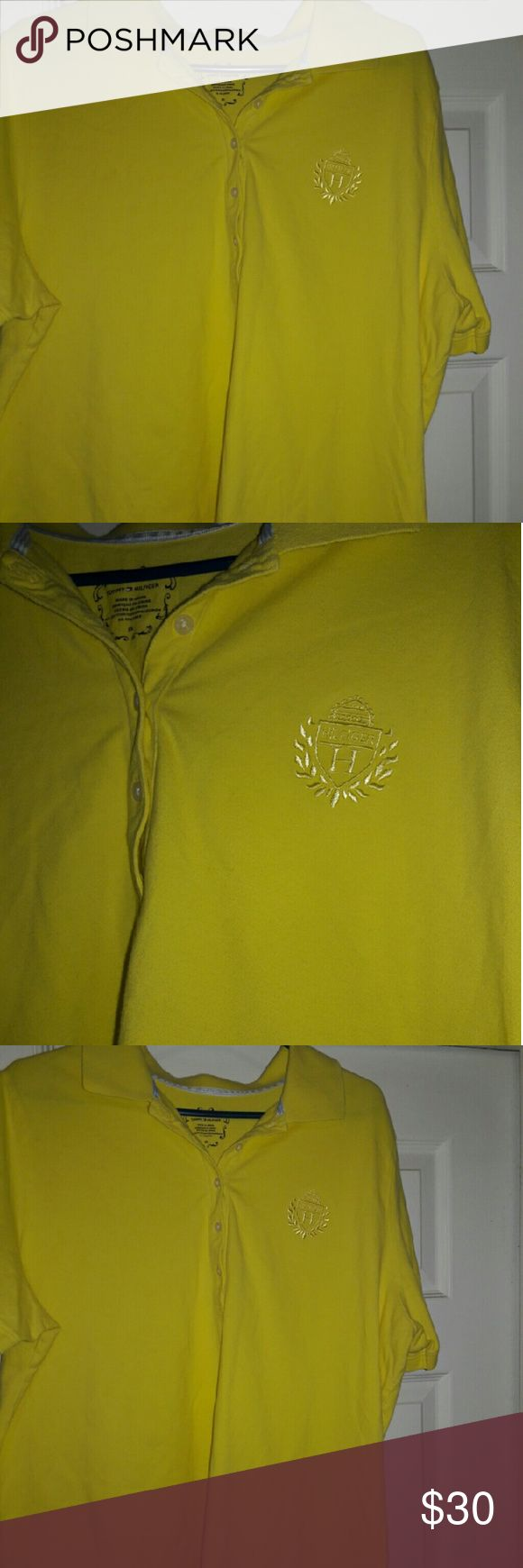 Womens Tommy Hilfiger yellow polo shirt  2x Used Tommy  Hilfiger womens yellow polo shirt size 2xl Tommy Hilfiger Other