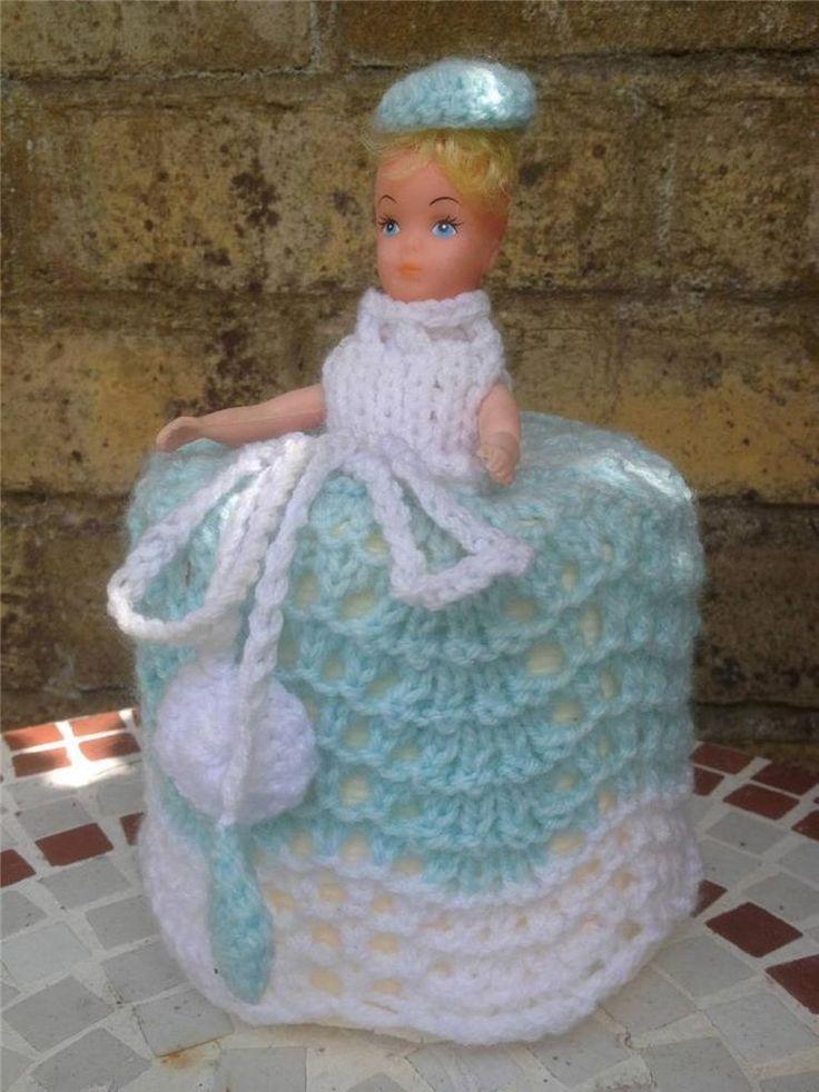 vintage retro original 1950s 1960s era toilet roll cover lady crinoline doll crochet ideas. Black Bedroom Furniture Sets. Home Design Ideas