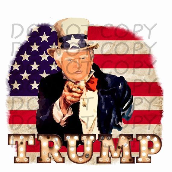 Trump Uncle Sam W Flag Sublimation Png Digital Download Digital Design Shirt Design Printable Clipart 2020 President Trump Sublime Uncle Sam W Flag