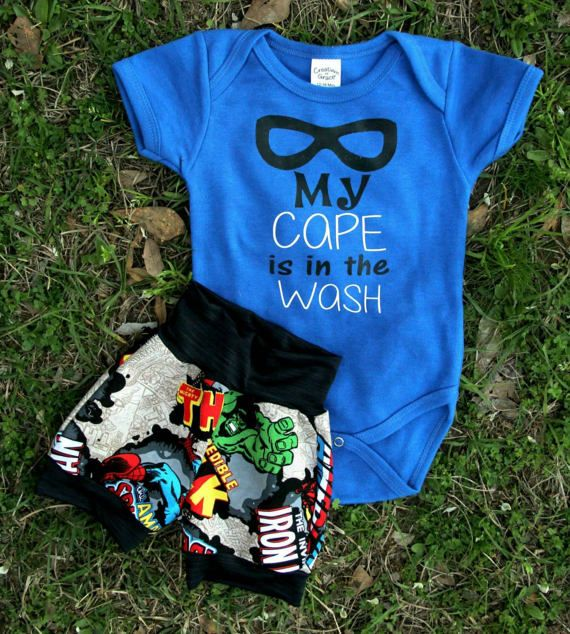 Super hero outfit super hero baby outfit by MadeSouthernCo on Etsy