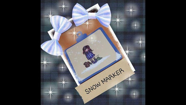PROVE SU STRADA,SNOW MARKER ,EFFETTO NEVE A RILIEVO,PER CARD AGENDE ,E M...