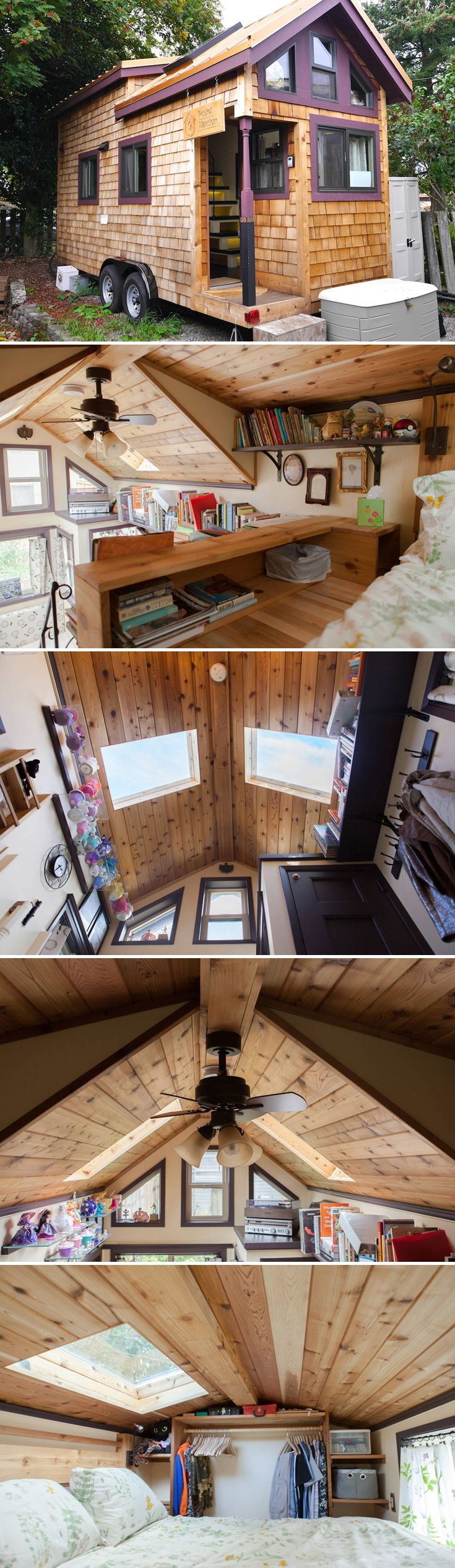 Ready to give tiny living a try? The Maiden Mansion is located in Seattle, WA and it's available for nightly rental through Airbnb, starting at $99/night.