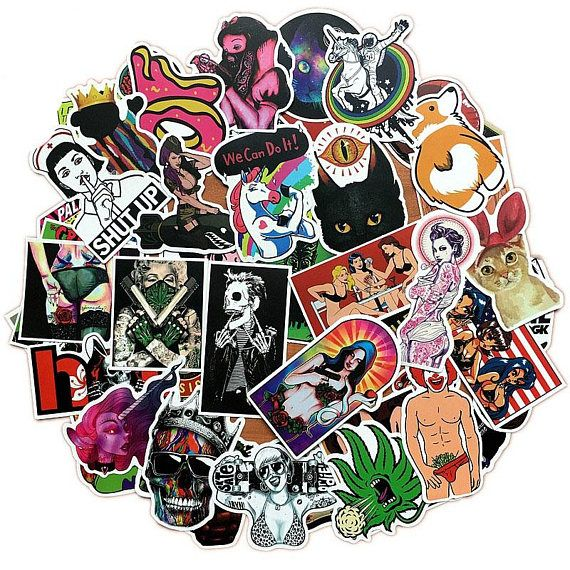 50 Vinyl Sticker Bomb Pack Laptop Stickers Car Stickers