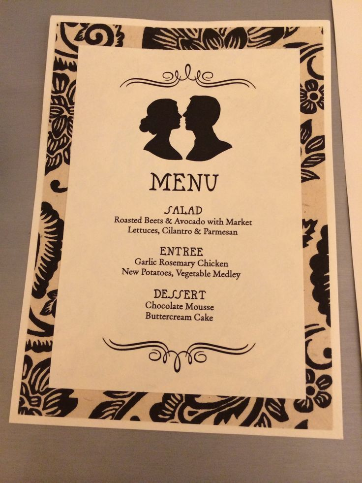 Cute idea for a #wedding #menu from #PaperSource