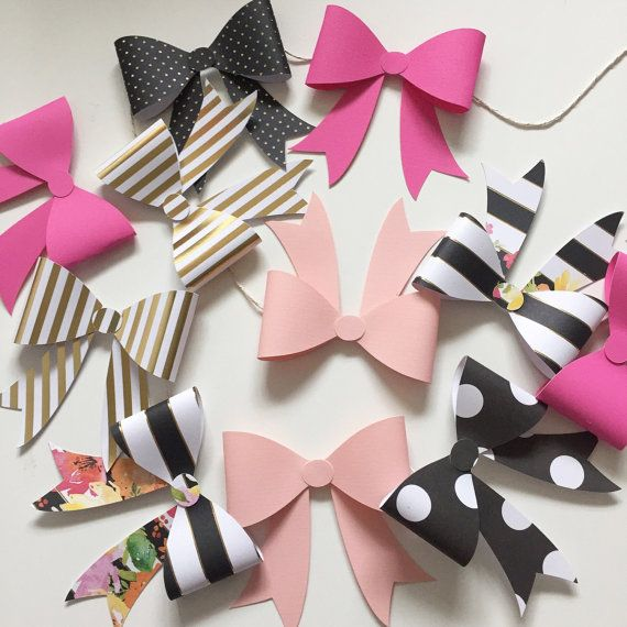 Kate spade inspired bow garland by StripestoSparkle on Etsy