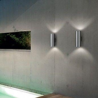 Gun AP2 Small - Ideal Lux - kinkiet zewnętrzny Lampy ogrodowe - abanet.pl  #oświetlenie #ogród #lampy #design #ideal_lux #Kraków