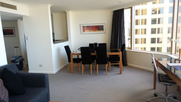 Living Area in a two bedroom suite at the Quay West Suites Sydney