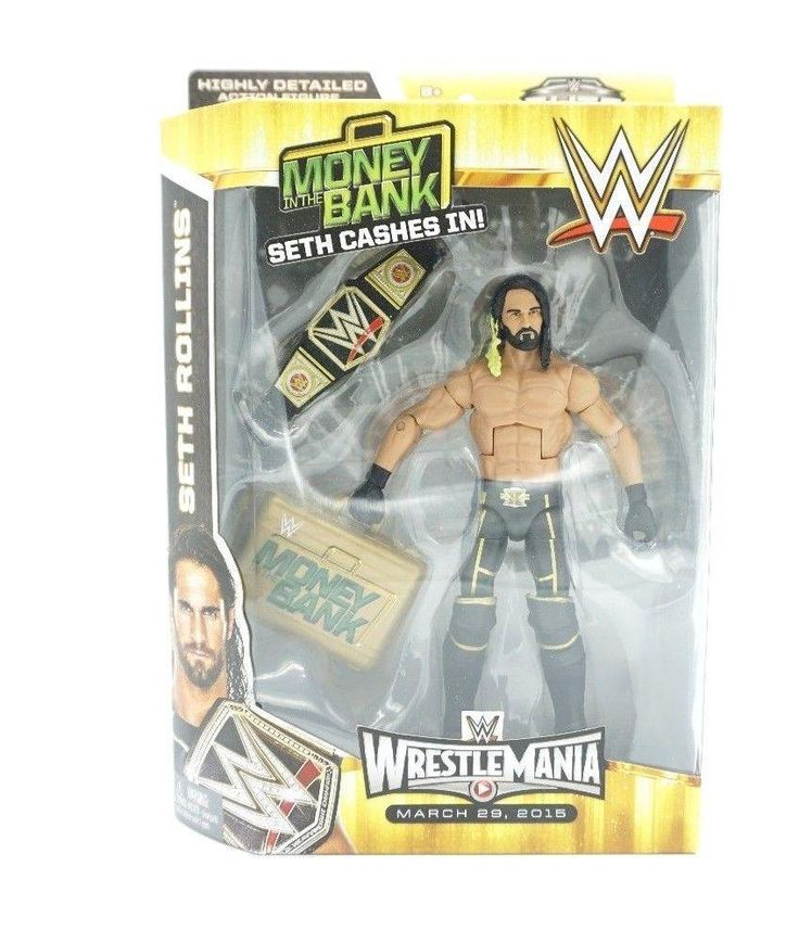New Wwe Elite Collection Wrestlemania 31 Seth Rollins Action Figure Toy Game