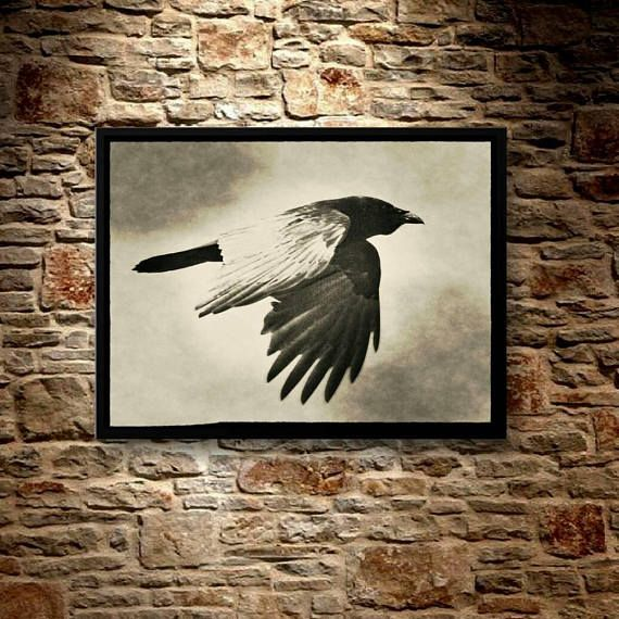 Check out this item in my Etsy shop https://www.etsy.com/ca/listing/574488997/as-the-dark-crow-flies-8x10-with-basic