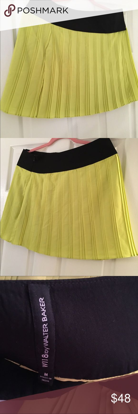 Walter baker w 118 lime green pleated skirt Walter baker by  w 118  lime green pleated skirt never worn but no tickets W118 by Walter Baker Skirts Mini