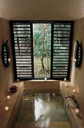 (27+) Fabulous Hacienda Style Homes Ideas U0026 Decorations. Sunken BathtubBath  CrystalsSoaking ...