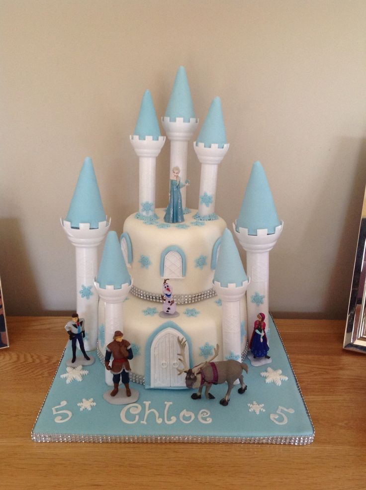 Frozen Castle Cake Cake Decorating Pinterest Frozen