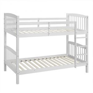 Becket White Wooden Bunk Bed