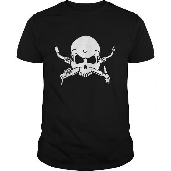 Cool Welder Crossbones Tshirt  welding rod gas torch wire shirt  Tees