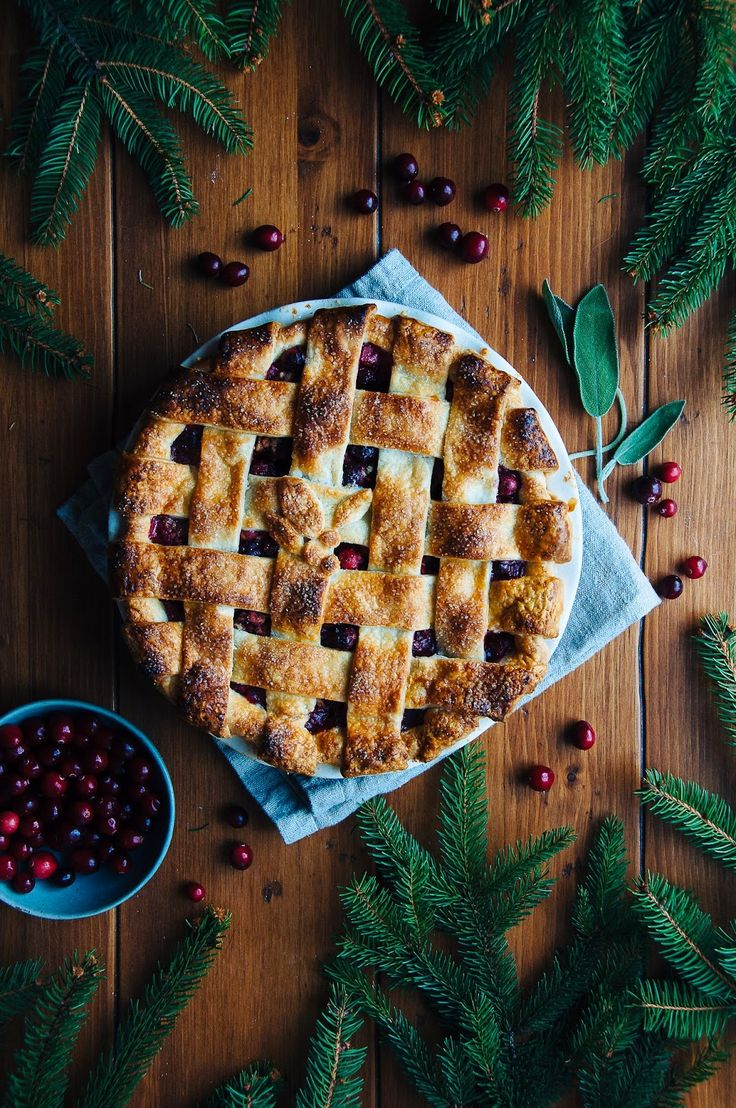 Cranberry Sage Pie   Hint of Vanilla