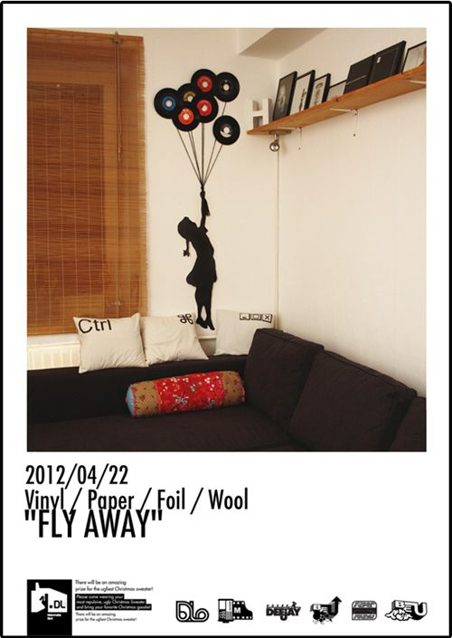 DIY record art- how about a silhoutte of kiev and kyerra on the walls.....