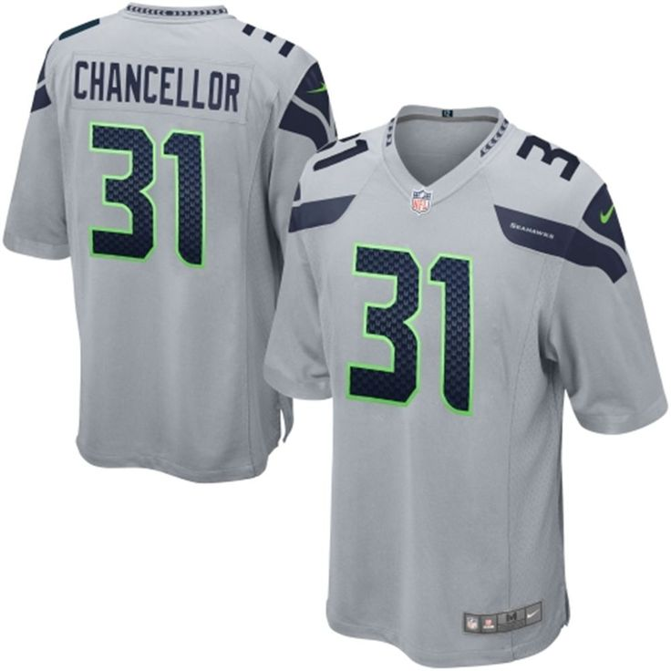 Youth Seattle Seahawks Kam Chancellor Nike Gray Alternate Game Jersey