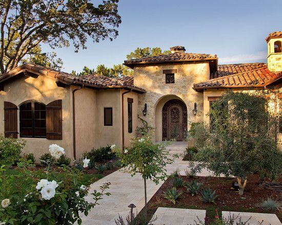 60 best spanish style exterior images on pinterest for Spanish mediterranean homes