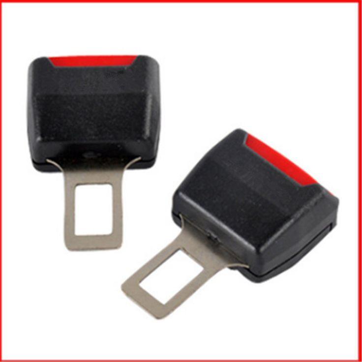 2 Stücke Universal Car Sicherheit Einstellbare Schwarz Sicherheitsgurte Stecker Roten Knopf DRÜCKEN Auto Gürtel Extender Erweiterung Clip