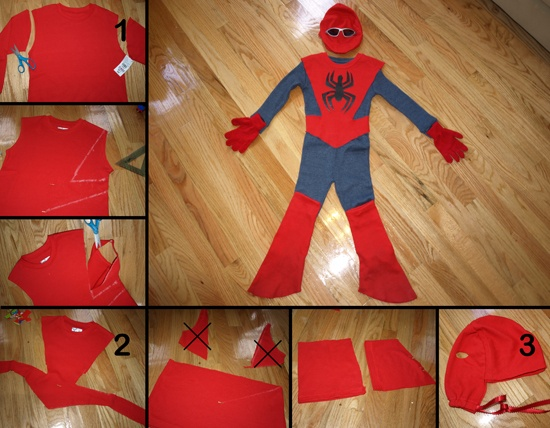 Spiderman costume made with #CookiesKids clothes (spent $20) by Mamá Boricua en Brooklyn