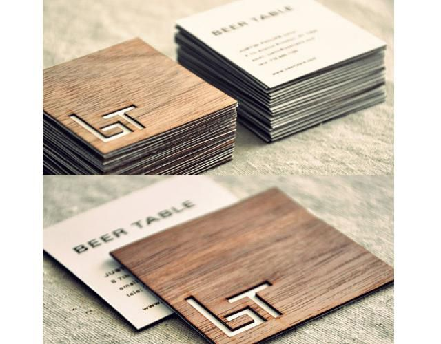 27 best die cut business cards images on pinterest business card creative wooden square business cards design for beer table high end pub in brooklyn accmission Image collections