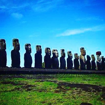#EasterIsland is our focus for this week. Do you know what these #statues are called?  #Tuesday #Travel #Trivia #southamericaunknown  #RapaNui #Chile