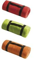 Throw Over Fleece Blanket (Orange) (PGIFTS3QE7180ORA) - Perkal Corporate Gifts