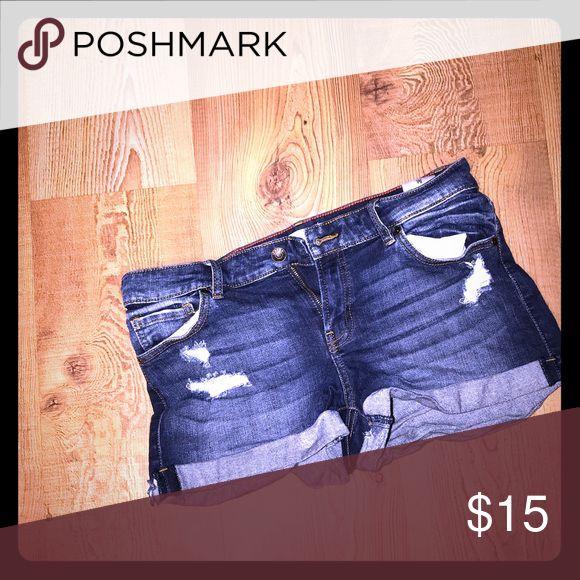 Denim Shorts WORN 1X  Denim Shorts Oasis Shorts Jean Shorts