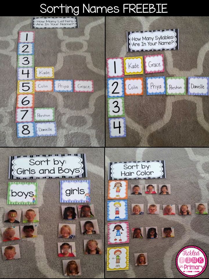 FREE activities for helping students learn their names and their peer's names