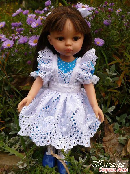 """Оксана Лифенко у себя в блоге поделилась выкройкой наряда """"Алиса"""" для Paola Reina. с разрешения Оксаны выкладываю в группе выкройки и фото."""