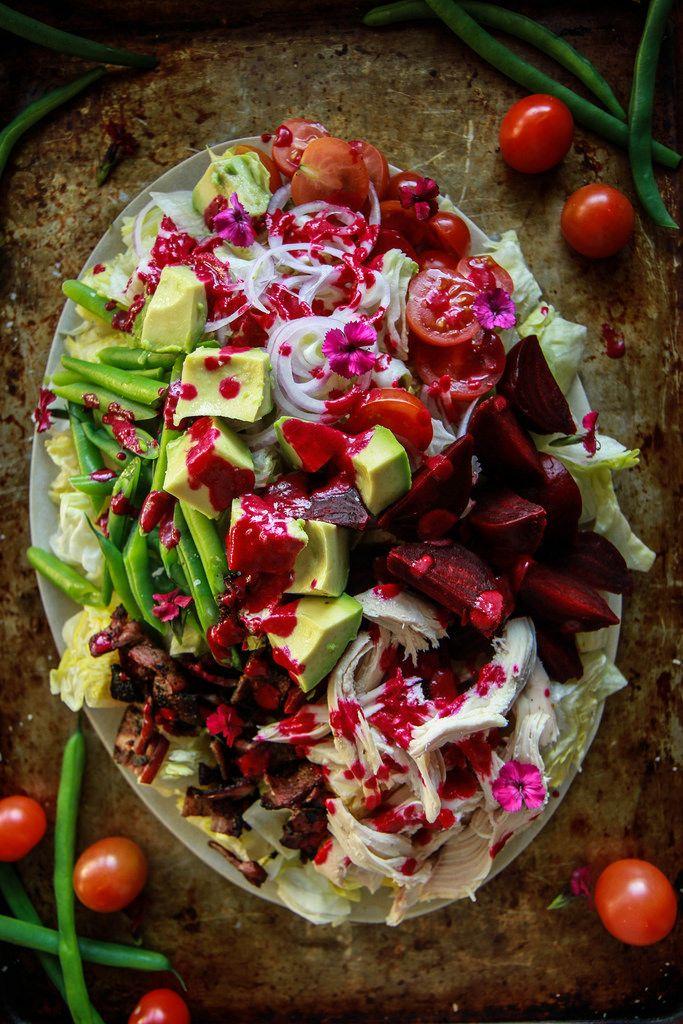 Winter Cobb Salad with Smoky Beet Dressing from HeatherChristo.com