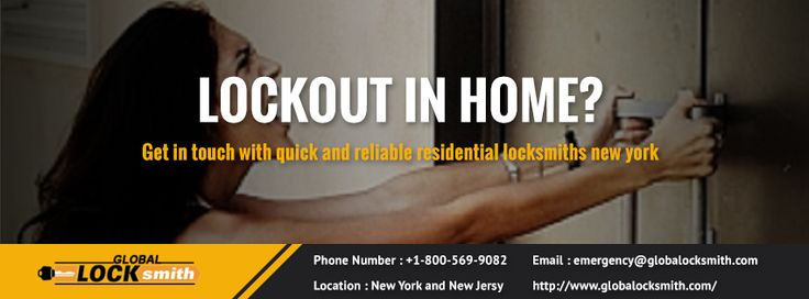 "Global Lock Smith is a Market Leader in providing #Residential #locksmith services.We provide emergency services twenty-four hours a day, seven days a week to answer all problems you come across.Contact http://www.globalocksmith.com/ for ""Quality locks for your Home."
