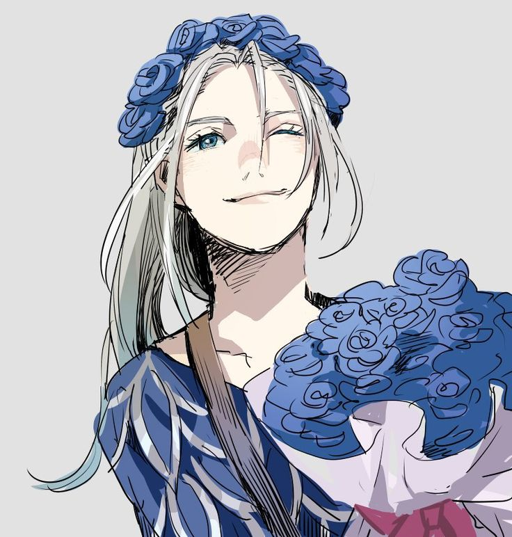 I liked Victor Nikiforov with long hair better. Yuri On Ice