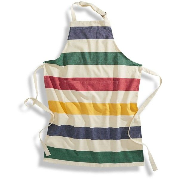 Hudson'S Bay Company Holmes -Stripe Adult Apron ($20) ❤ liked on Polyvore featuring home, kitchen & dining, aprons, multi, stripe apron, pocket apron, cotton apron and striped apron