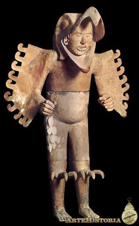 Caballero Águila. Cultura Azteca (México) Autor: Fecha: 1500 h. Museo: Características: Estilo: Material: Cerámica Pintada