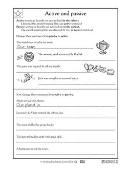 Worksheets 1000 Active Passive Sentences 1000 images about passive voice on pinterest student centered 5th grade writing worksheets active and sentences