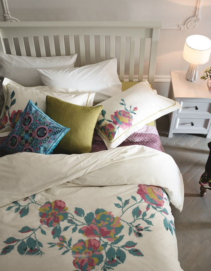 Delicate embroidery, traditional prints and the finest, softest cotton bedding - bedtime should always be this beautiful!