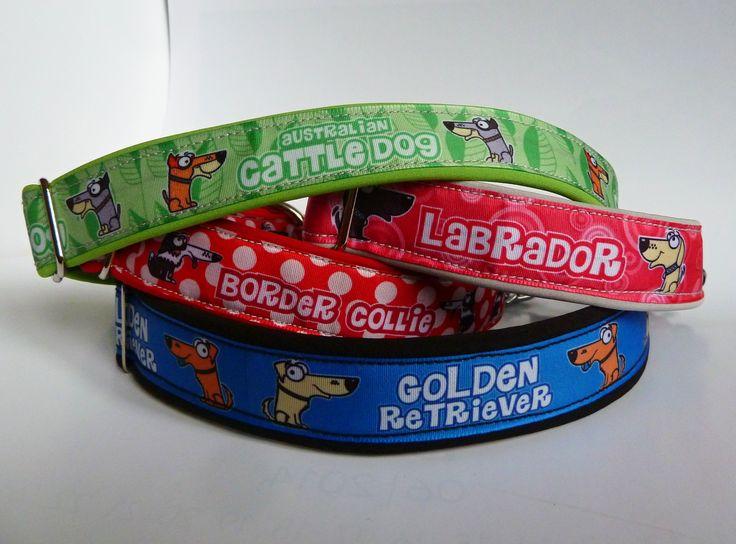 DIY sewed collars with Dog World Graphics ribbons