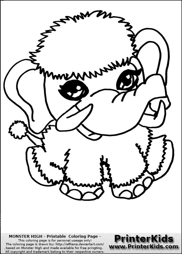 monster high printable coloring pages here printerkids monster high printable coloring page coloring page - Monster High Chibi Coloring Pages