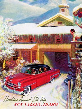USA Sun Valley, Idaho Vintage style travel poster
