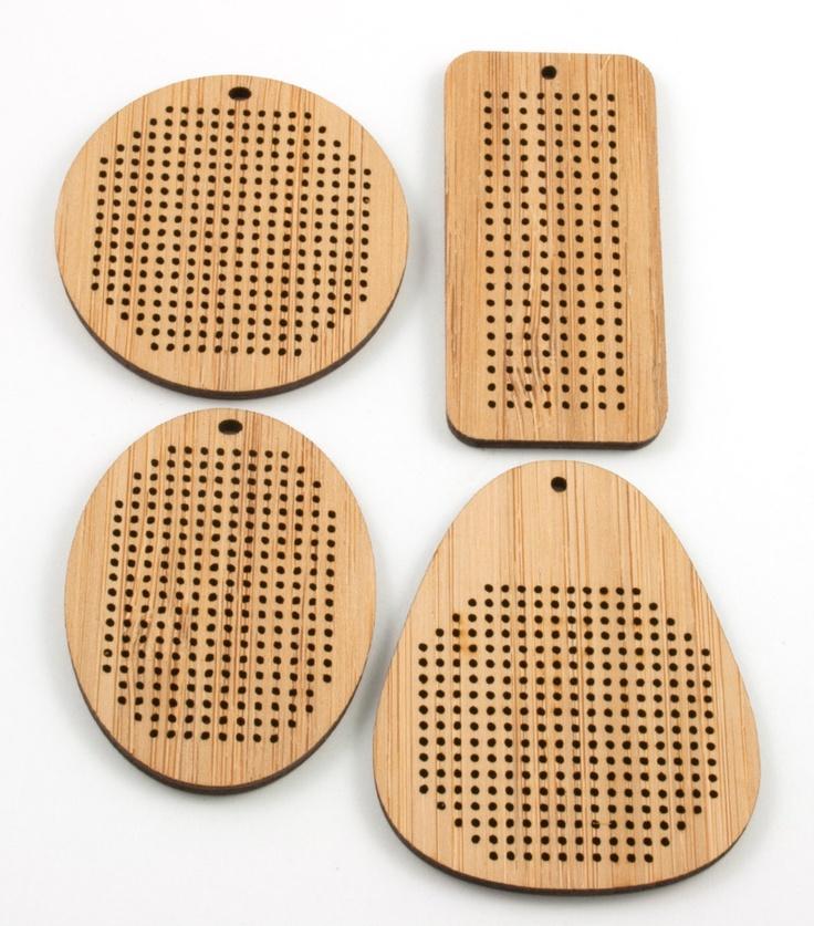 DIY Cross Stitch Necklace - Bamboo Pendant Blank - Round. $12,00, via Etsy.