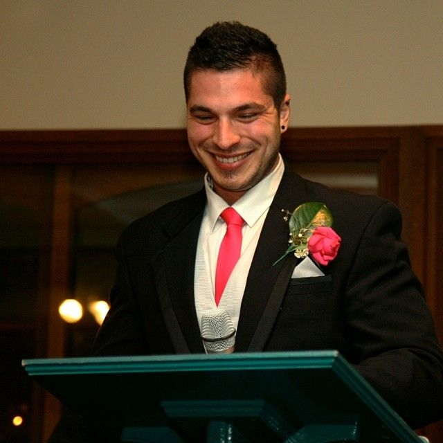 Speechifying with a smile :: Photo by Nathania Springs Receptions :: Dandenong Ranges, Victoria, Australia