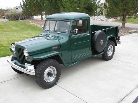 willys trucks restored 1948 green willys overland for. Black Bedroom Furniture Sets. Home Design Ideas