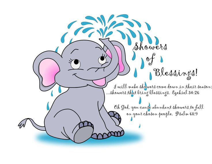 Wonderful Showers Of Blessings Elephant Pillowcase