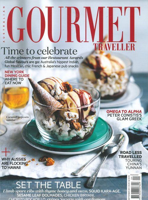 FLIPP Management | Gorgeous September Australian Gourmet Traveller cover from photographer William Meppem and Emma Knowles