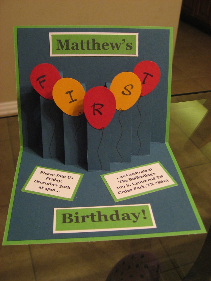 wording0th birthday party invitation%0A First birthday party Stampin u     Up invite