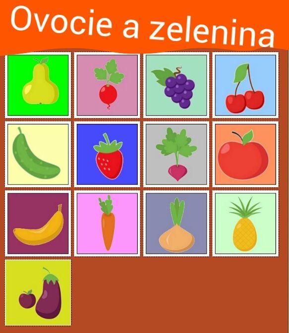 Ovocie a zelenina http://www.pexeso.net/ovocie-a-zelenina/01A4A